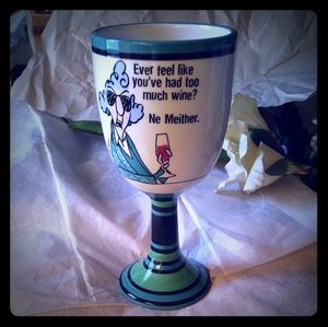 Hallmark Maxine Ceramic Wine Glass
